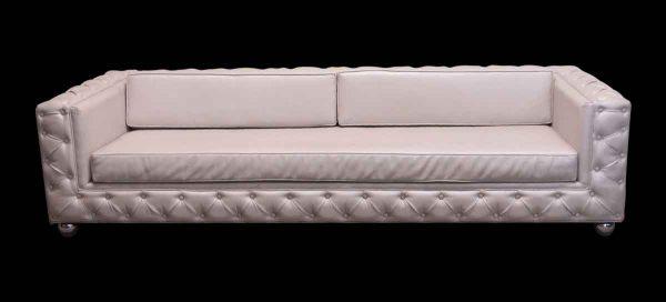 Living Room - Light Beige Vinyl Sofa