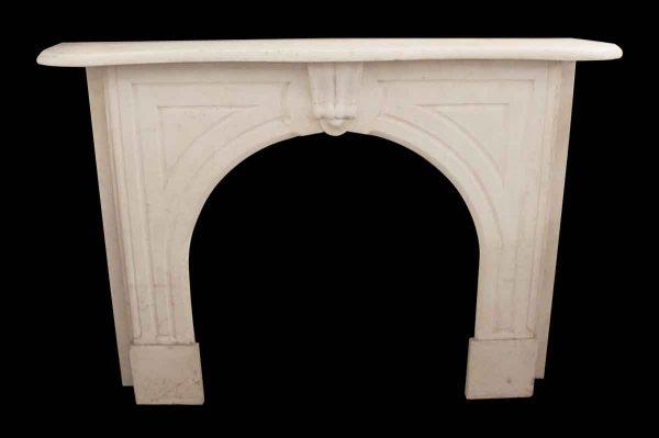 Mantels - Antique White Marble Mantel with Art Deco Details
