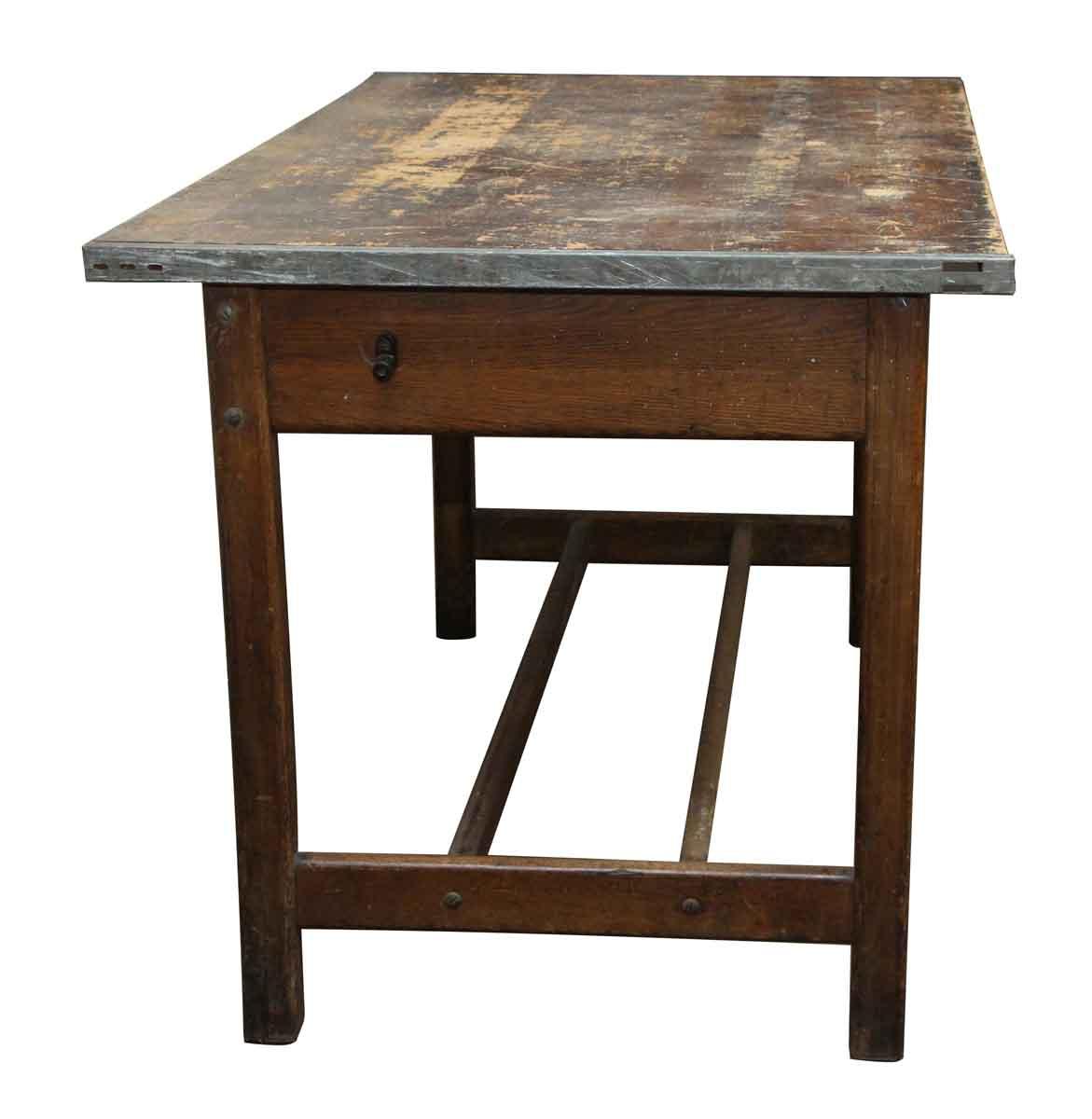 Salvaged Wood Work Table   Olde Good Things