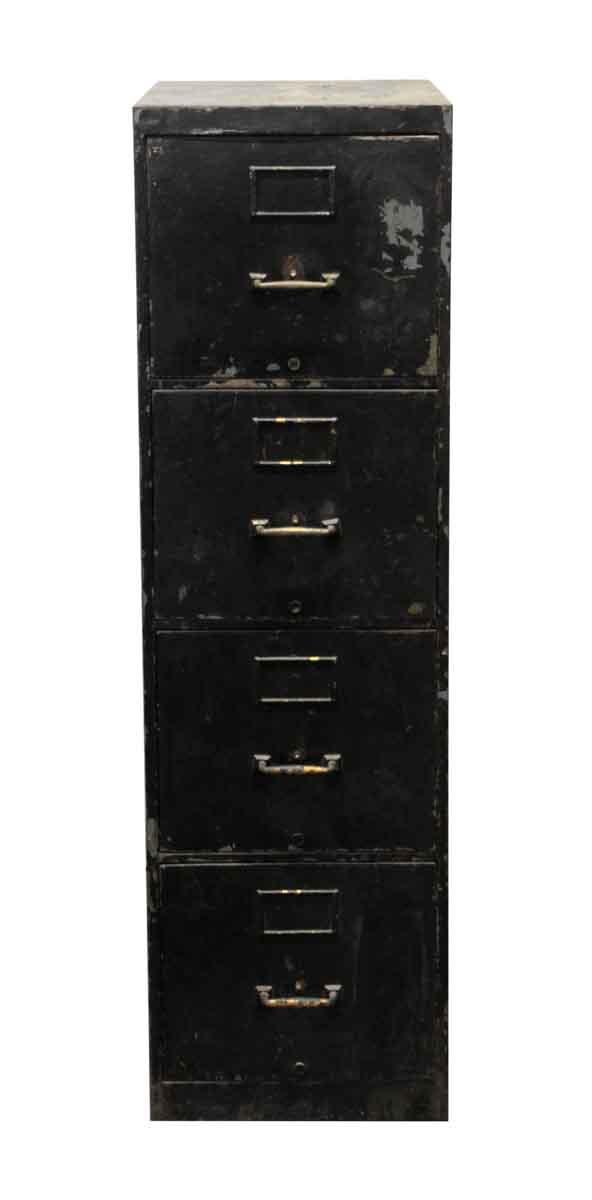 Office Furniture - 4 Drawer Black Metal Cabinet