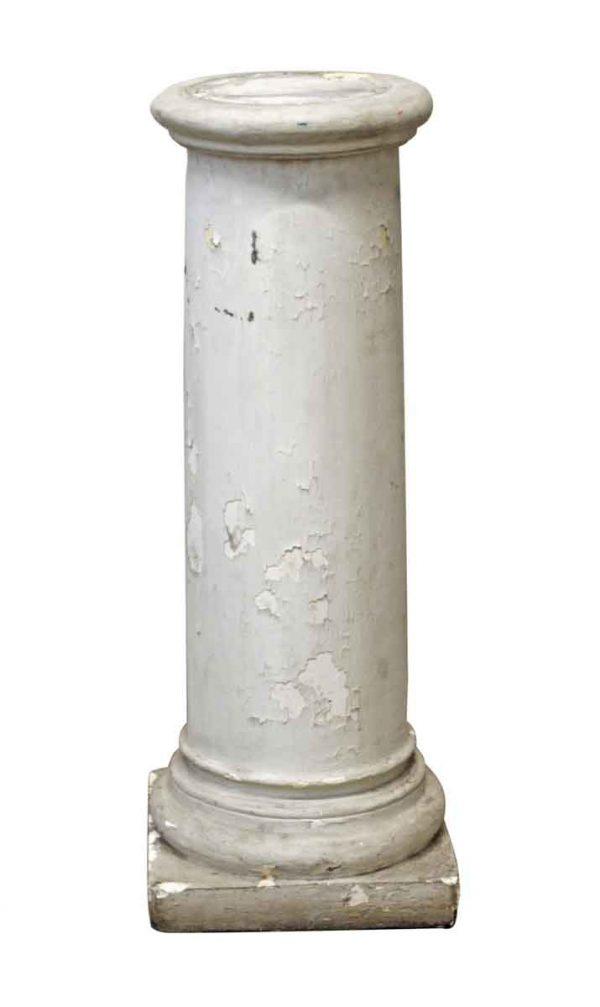 Pedestals - Reclaimed White Wooden Pedestal