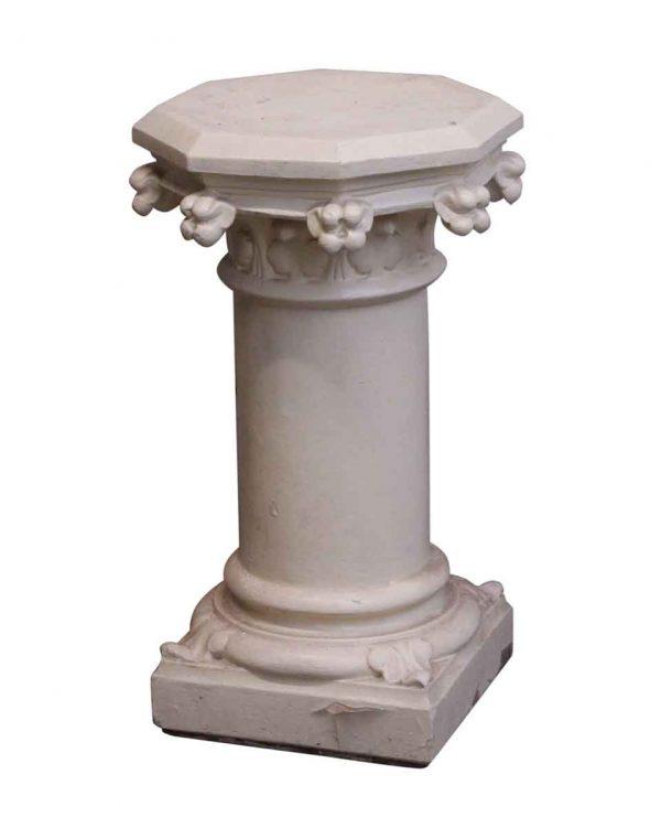 Pedestals - Salvaged Off White Wooden Pedestal