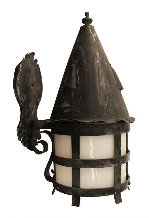 Sconces & Wall Lighting - Antique Arts & Crafts Black Single Copper Sconce
