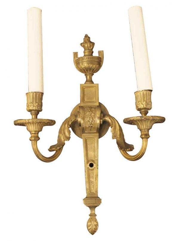 Sconces & Wall Lighting - French Style Caldwell Signed Single Brass Sconce