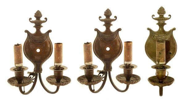 Sconces & Wall Lighting - Set of Cast Bronze Theater Sconces