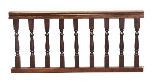 Staircase Elements - Salvaged Dark Wood Tone Railing