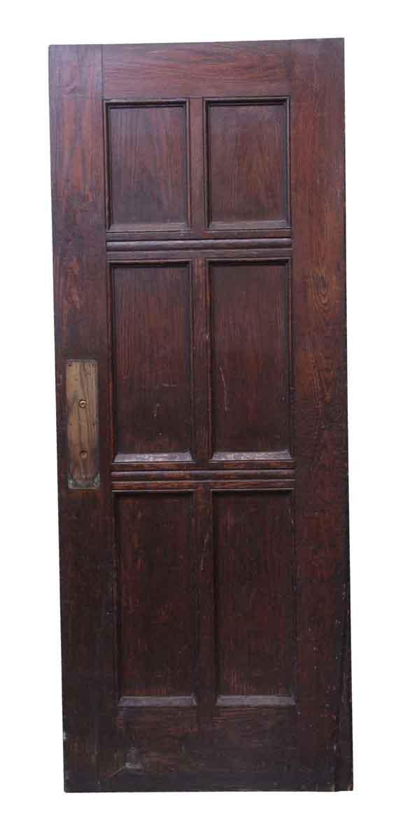 Standard Doors - Dark Tone Oak Wood 6 Panel Door