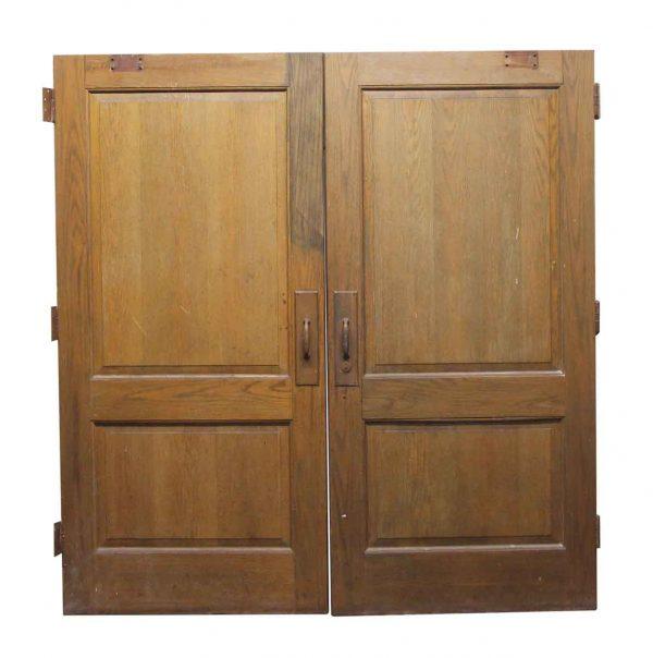 Standard Doors - Pair of Wide Wooden Doors with 2 Panels