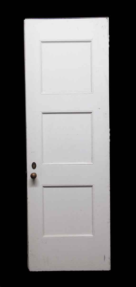 Standard Doors - White 3 Panel Wooden Door