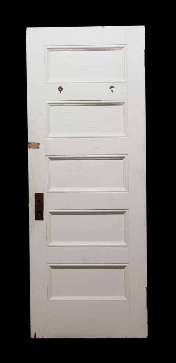 Standard Doors - White Wood Door with 5 Horizontal Panels