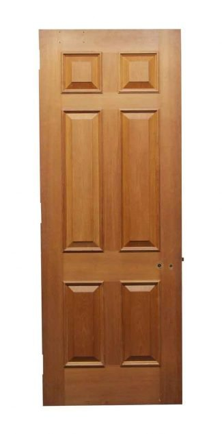 Wide Wooden Door With Six Raised Panels