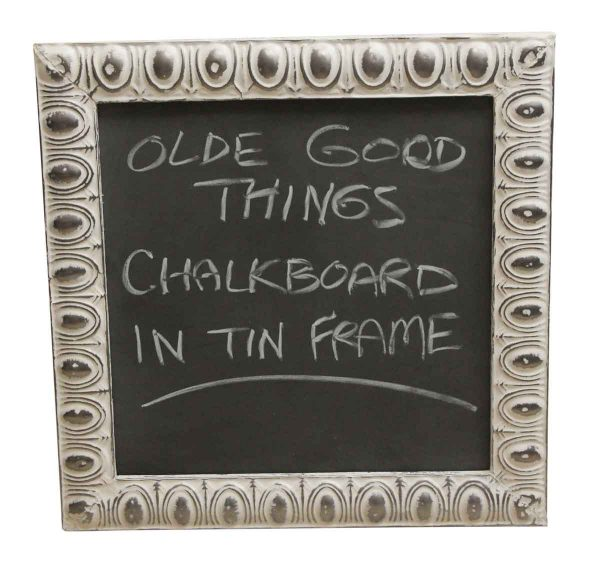 Tin Creations - Egg & Dart Antique Tin Frame Chalkboard