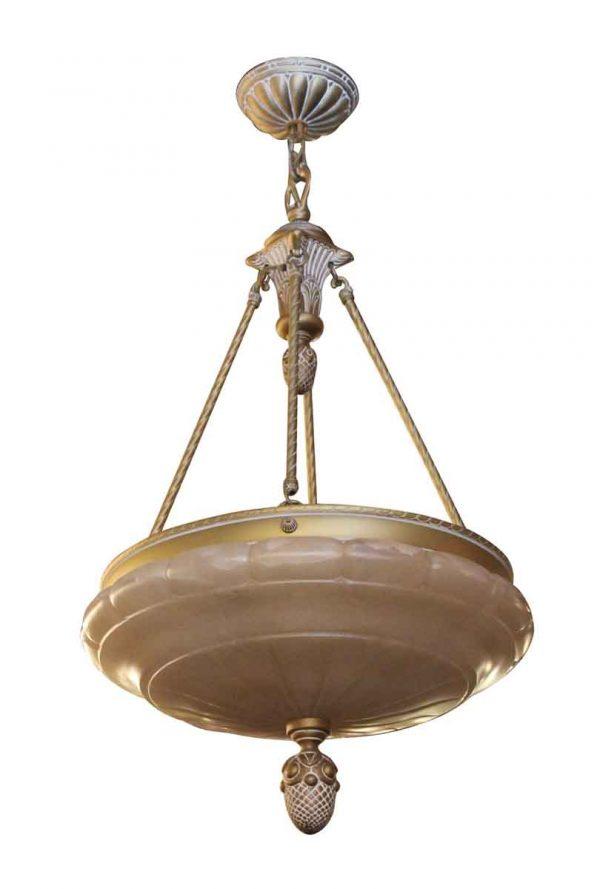 Up Lights - Waldorf Astoria Alabaster Chandelier Dish Pendant Light