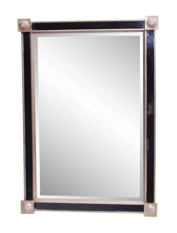 Waldorf Astoria - Waldorf Astoria Black & Gold Beveled Mirror