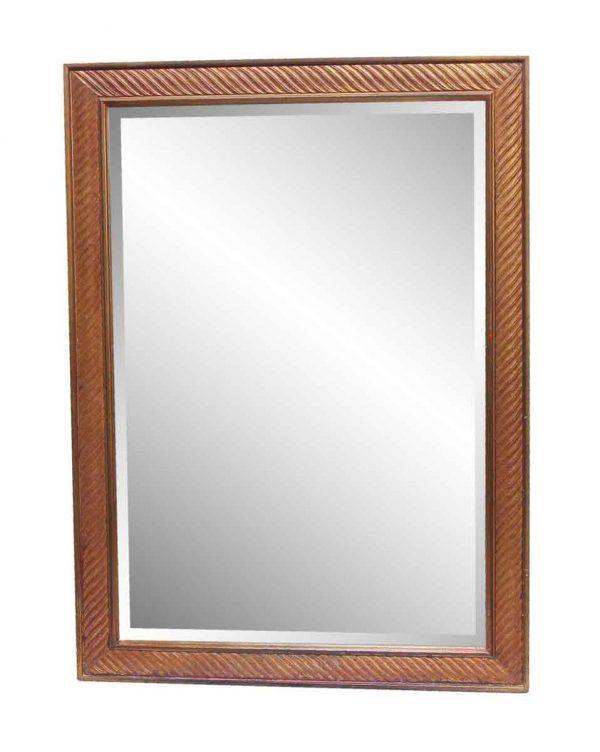 Waldorf Astoria - Waldorf Astoria Bronze Colored Wooden Beveled Mirror