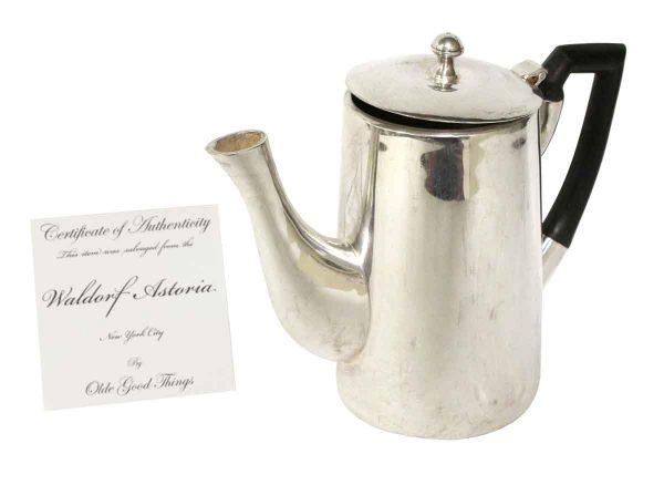 Waldorf Astoria - Waldorf Astoria Silver Plated Tea Pot with Black Handle