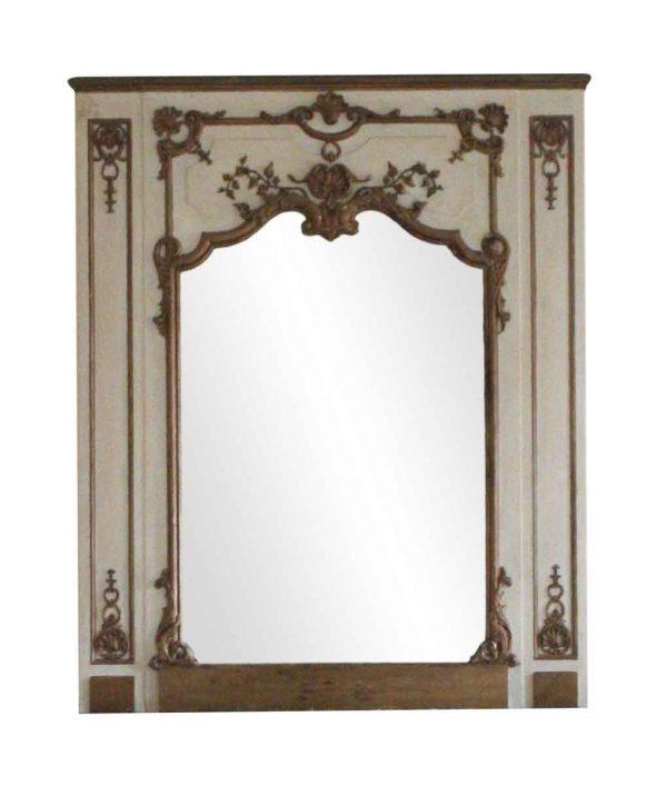Waldorf Astoria - Waldorf Astoria Tan & Gold Wood Overmantel Mirror