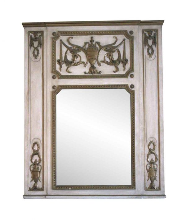 Waldorf Astoria - Waldorf Astoria Urn Motif Carved Overmantel Mirror