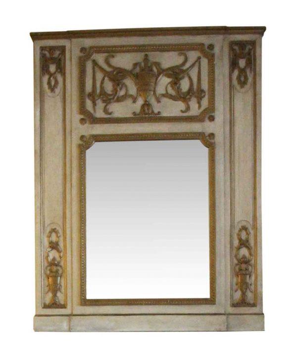 Waldorf Astoria - Waldorf Astoria Urn Motif Carved Wooden Overmantel Mirror