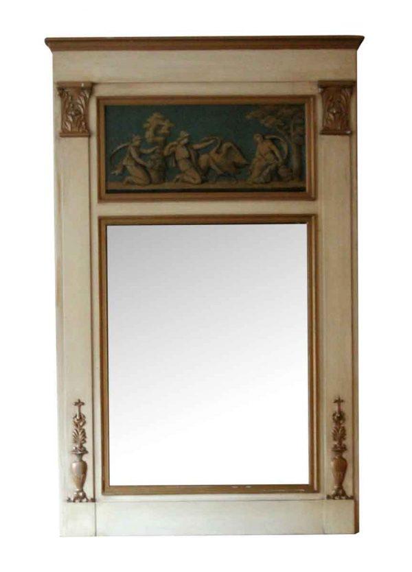 Waldorf Astoria - Waldorf Wooden Overmantel Mirror with Figural Details