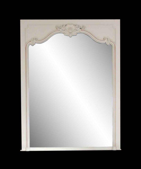 Waldorf Astoria - White Wooden Decorative Overmantel Mirror