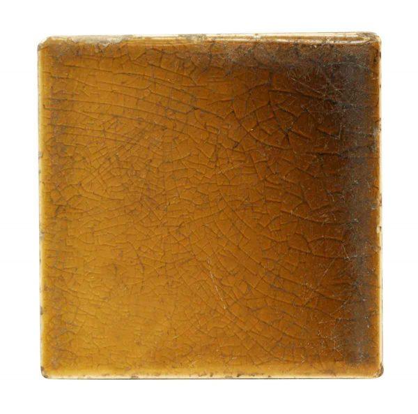 Wall Tiles - Antique Brown Square Crackled Tile