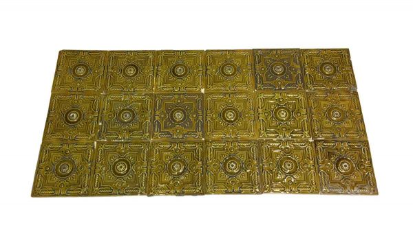 Wall Tiles - Antique Yellow Raised Tile Set