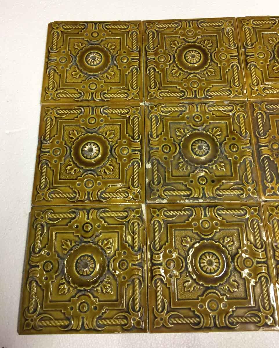 Antique Yellow Raised Tile Set Olde Good Things