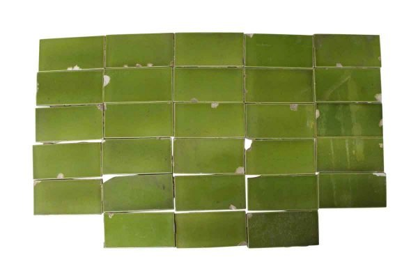 Wall Tiles - Vintage Green 6 in. x 3 in. Subway Tile Set