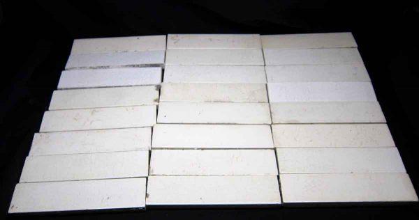 Wall Tiles - White 1.5 x 6 Crackled Tile Set