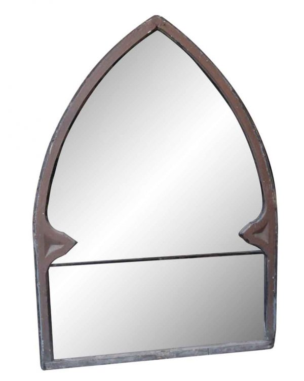 Wood Molding Mirrors - Peaked Wood Framed Window