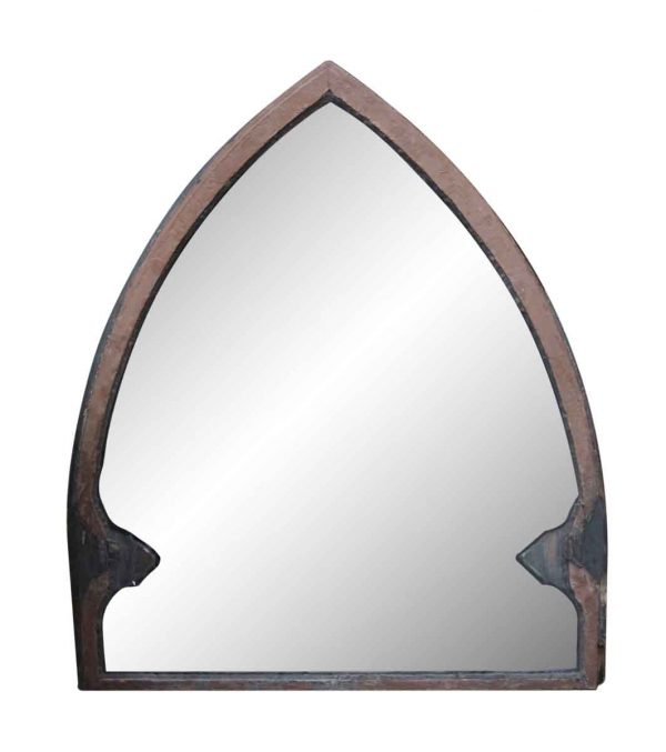 Wood Molding Mirrors - Wood Framed Peaked Window