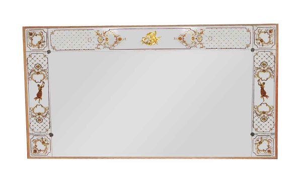 Antique Mirrors - Large Mirror with Decorative & Figural Details