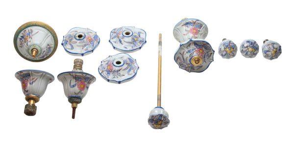 Bathroom - Porcelain & Brass Faucet & Pull Set