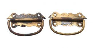 Pair Of Vintage Br Trunk Handles
