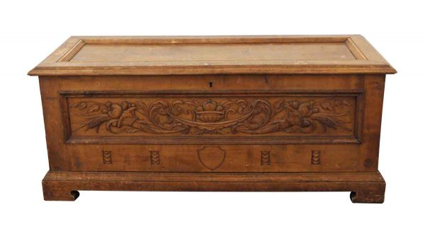 Chests - Carved Wooden Cedar Chest
