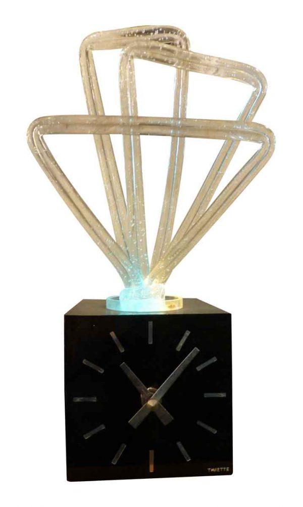 Clocks  - Vintage Modern Black Desktop Clock