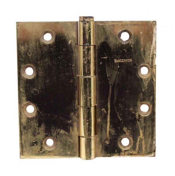 Door Hinges - Vintage Polished Brass Baldwin Hinge