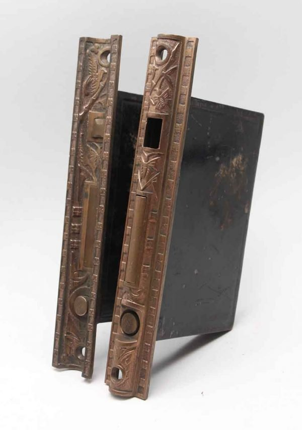 Door Locks - 8 in. H Pair of Norwalk Pocket Door Cast Iron Locks