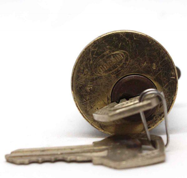 Door Locks - Brass 1.375 in. Corbin Cylinder Lock with Keys