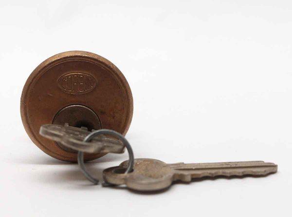 Door Locks - Bronze 2.25 in. Corbin Lock with Keys
