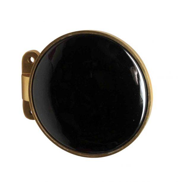 Door Pulls - Black Porcelain & Brass Door Pull