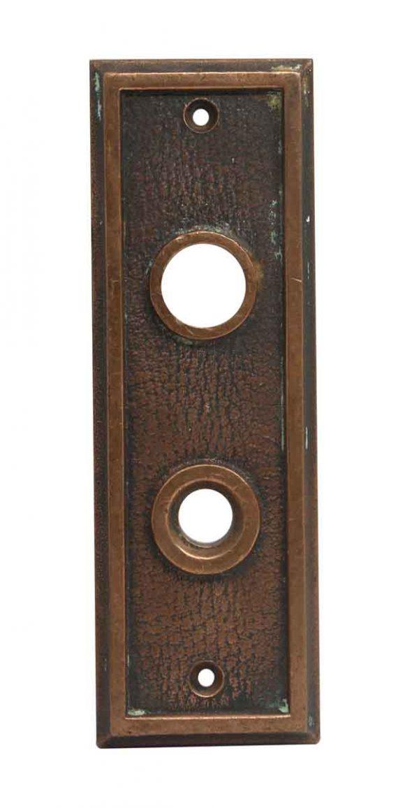 Elevator Hardware - Bronze Antique Button Elevator Plate