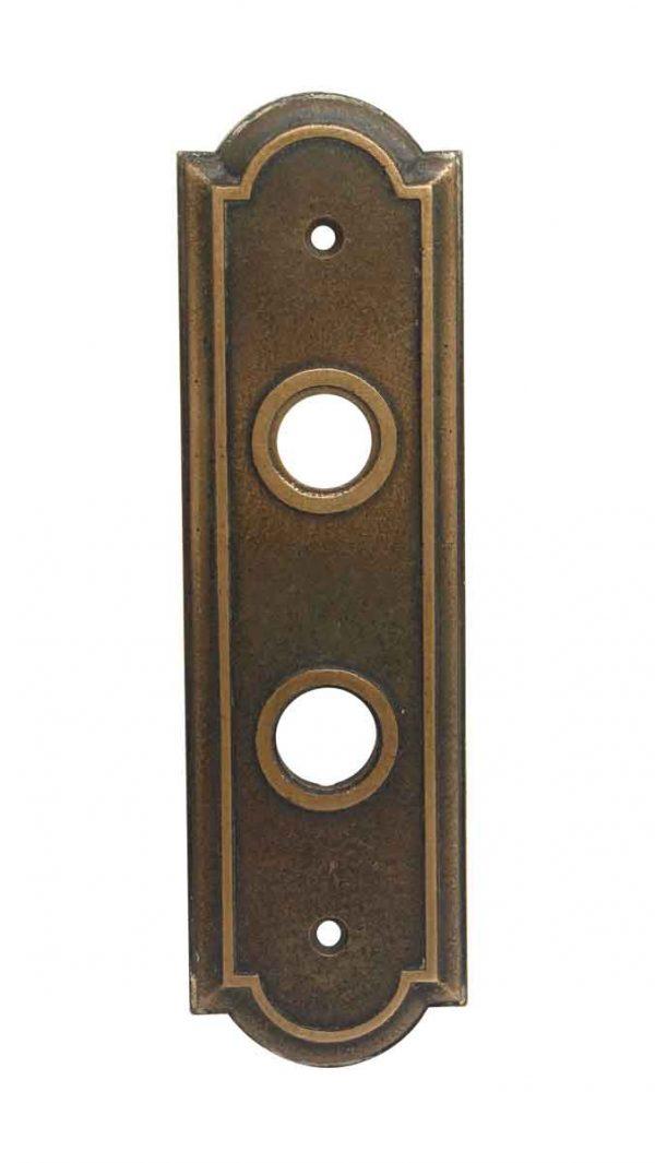 Elevator Hardware - Cast Bronze Antique Elevator Plate