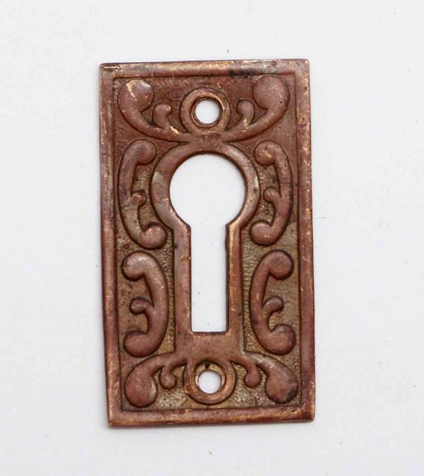 Keyhole Covers - Antique Brass Victorian Keyhole Cover