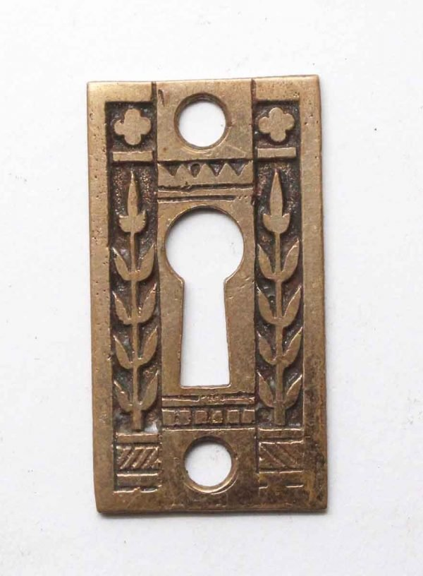 Keyhole Covers - Brass Antique Aesthetic Keyhole Cover