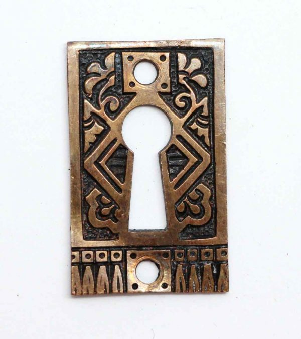 Keyhole Covers - Ornate Brass Antique Keyhole Cover