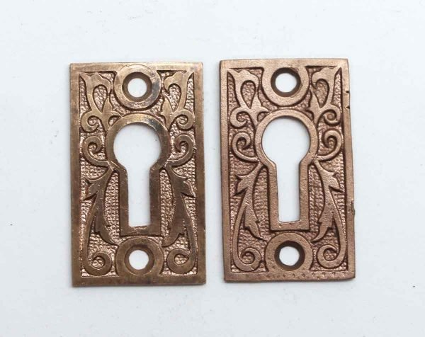 Keyhole Covers - Pair of Victorian Keyhole Covers Made of Brass