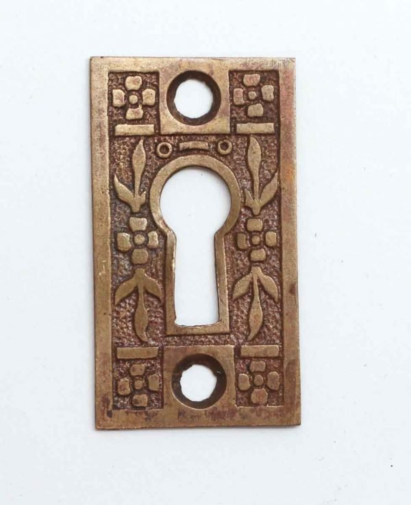 Keyhole Covers - Single Antique Brass Keyhole Cover