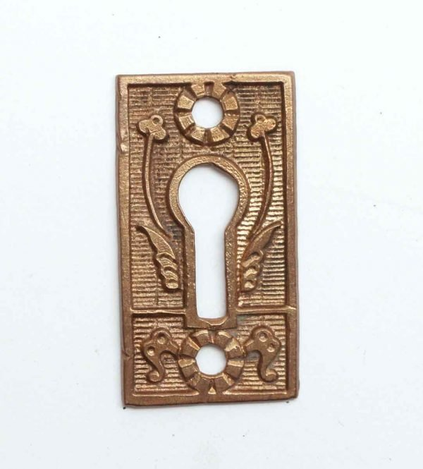 Keyhole Covers - Victorian Brass Floral Keyhole Cover